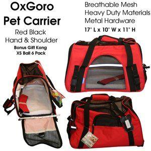 Red Small Pet Oxgoro Travel Carrier Bag Heavy Duty